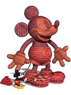 レンガの彫刻ミッキーマウスCG待ち受け画像