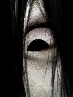 貞子怖いイラスト待ち受け画像