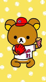 広島カープ野球ユニフォームコスプレのリラックマ